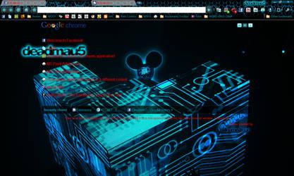 Deadmau5 Chrome Theme 1280