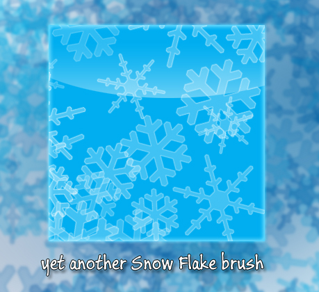 Yet another snowflake brush PS