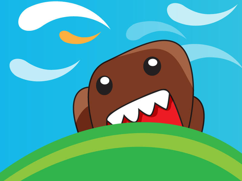 domo kun cute monster vector by thepow on deviantart