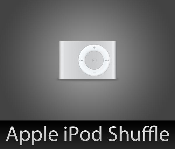 iPod Shuffle with PSD by wafflez-art