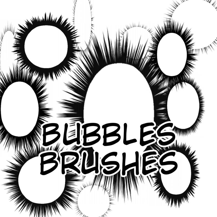 Speech Bubbles Brushes by flameshaft