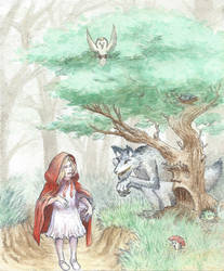 Little Red Riding Hood and the Big Bad Wolf by Armel