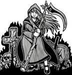 Inktober Day 11: Death Witch by 565mae10