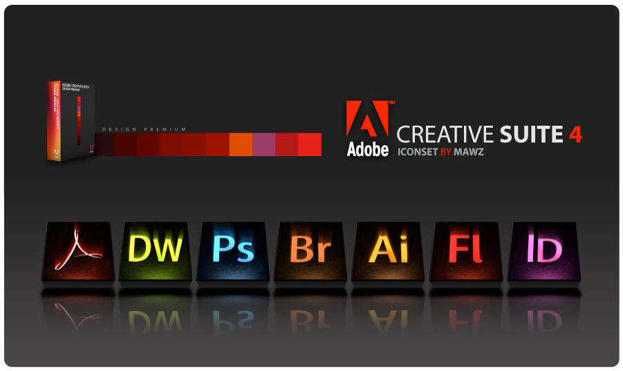 Adobe CS4 Icon Set by Mawz