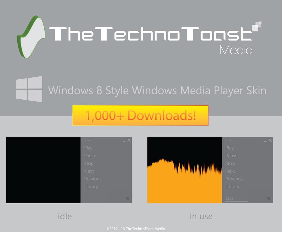 Windows 8 Style WMP Skin by TheTechnoToast