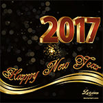 Happy New Year 2017 Greeting Card  (Animated) by Lacerem