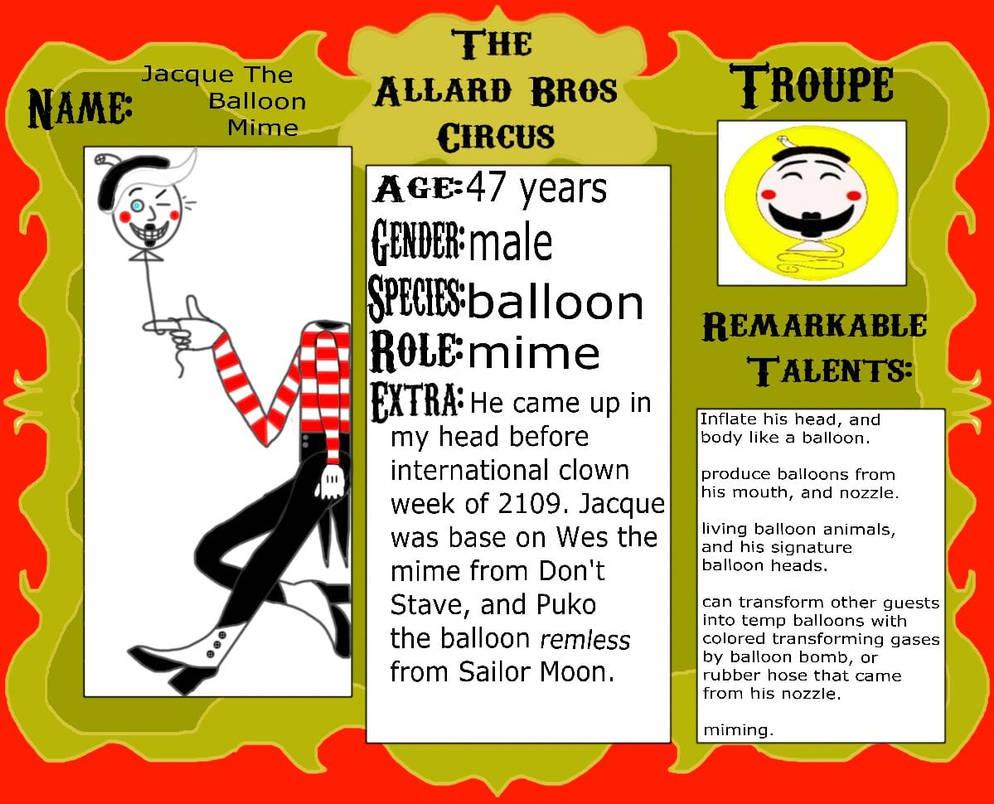 Jacque the Balloon Mime
