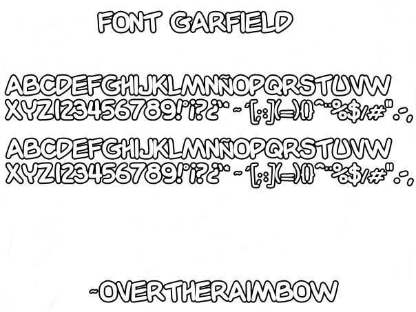 Font Garfield By Overtheraimbow On Deviantart