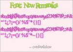 Font New Romantics