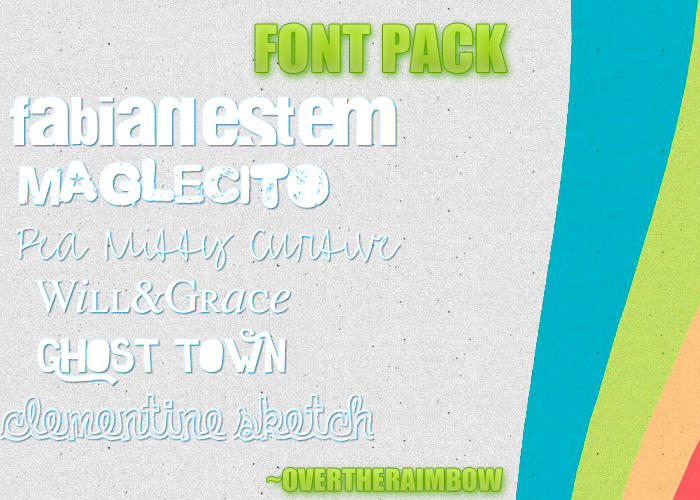 Download Font's Pack by overtheraimbow on DeviantArt