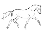 Free Trotting Horse Lineart