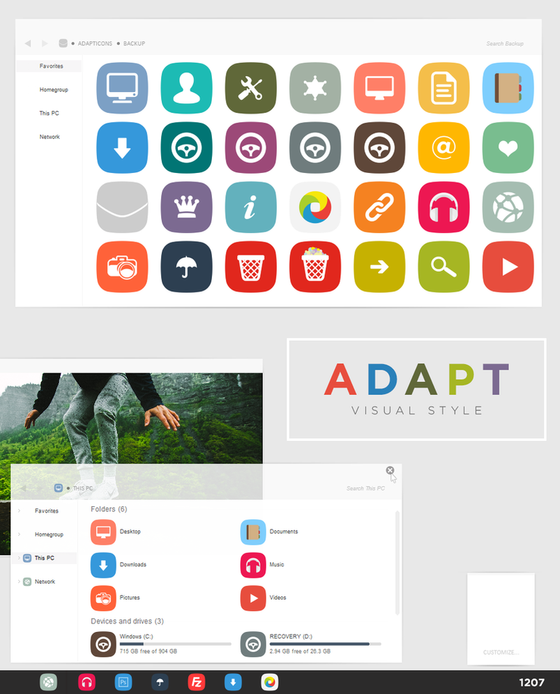 ADAPT theme for Win8.1
