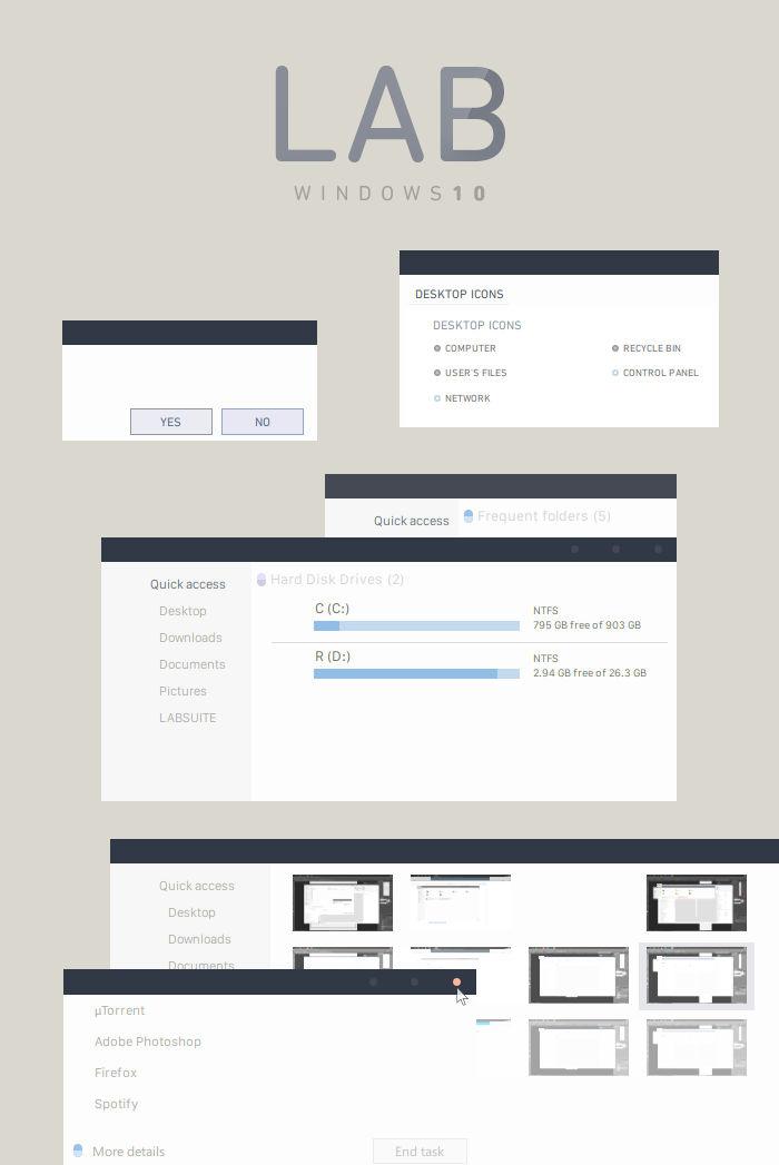 LAB Windows 10 Visual Style