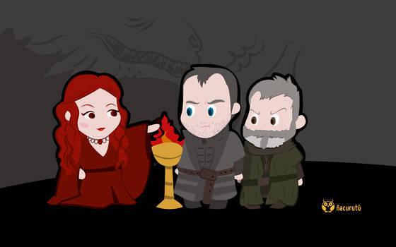 Stannis, Melisandre y Davos [Junio]