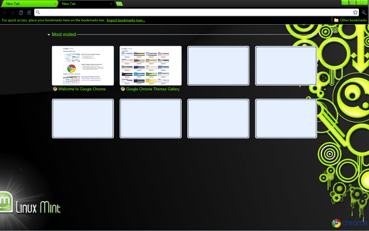 Linux Mint Google Chrome Theme by strychnine8301 on DeviantArt