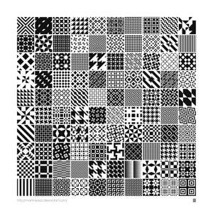 Monochrome Geometric Patterns