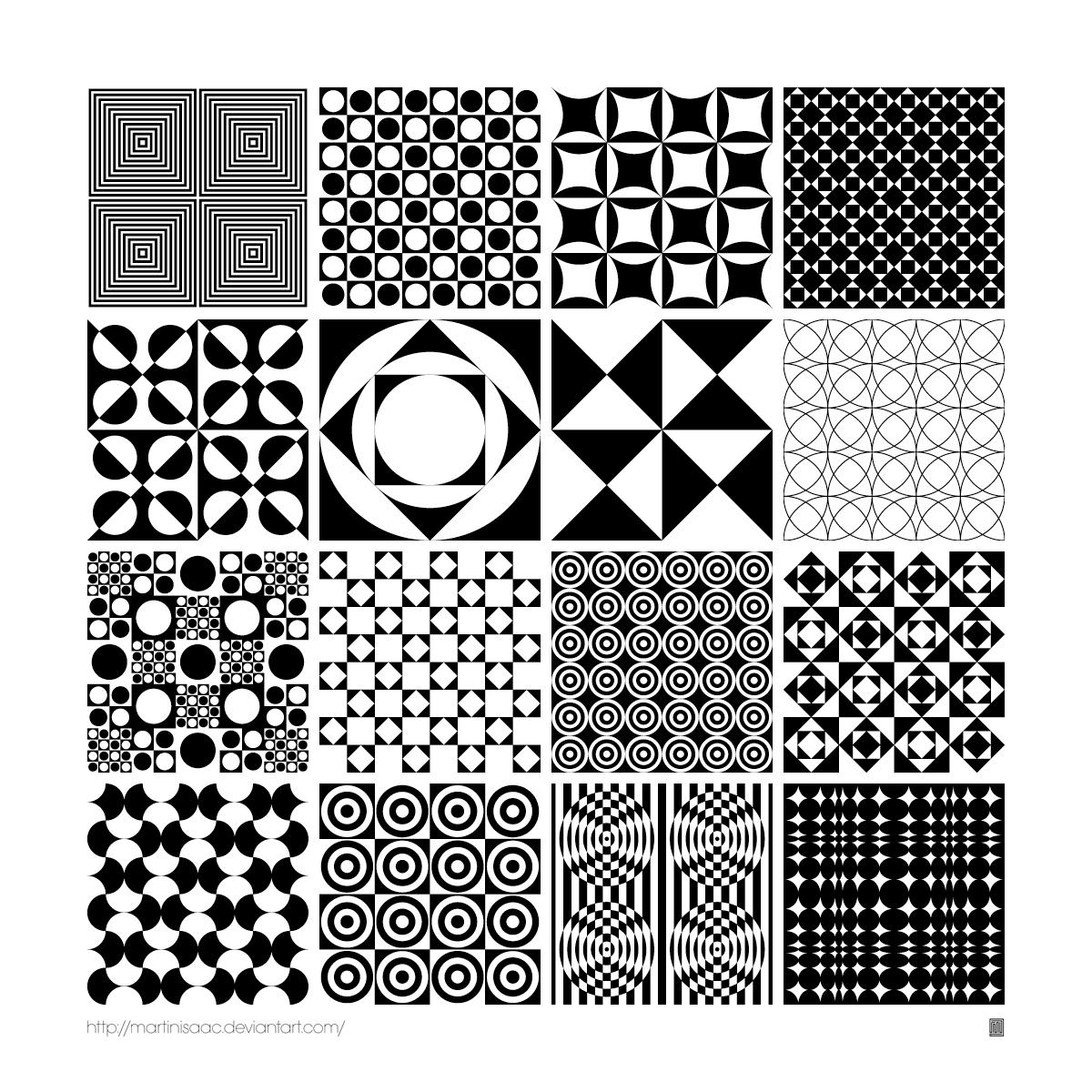 16 Free Monochrome Panton Patterns by Martin Isaac