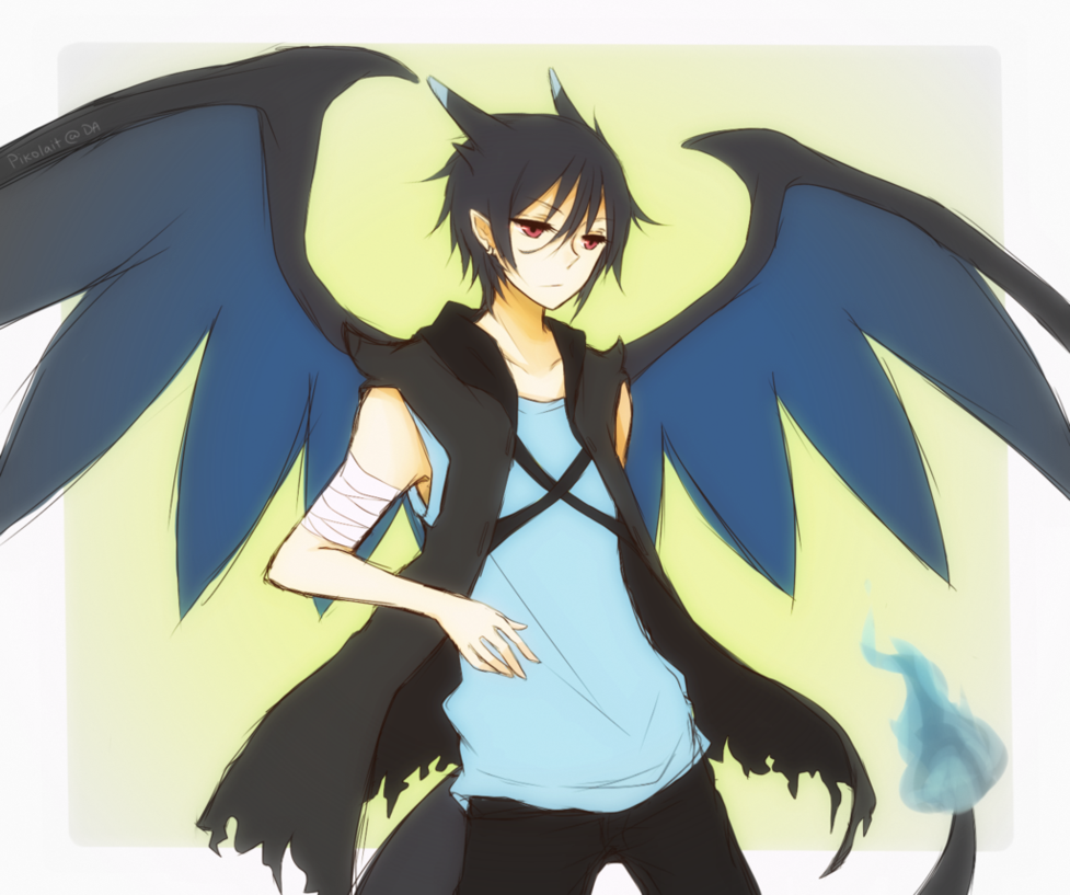 X And Y Anime Characters : A drastic change gijinka megacharizardx reader by