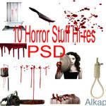 10 Horror Stuff PSD