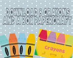 crayons and box