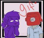 Purple Guy and Phone Guy [gif]