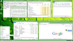 Luna Light Green Windows 8.1 Theme