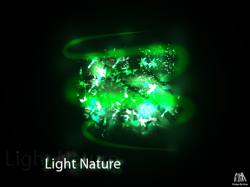 Abstract Light Nature Brushes