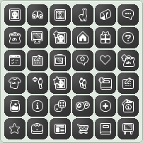 Deviant Art Free Retro Buttons Kit by Cucureuill