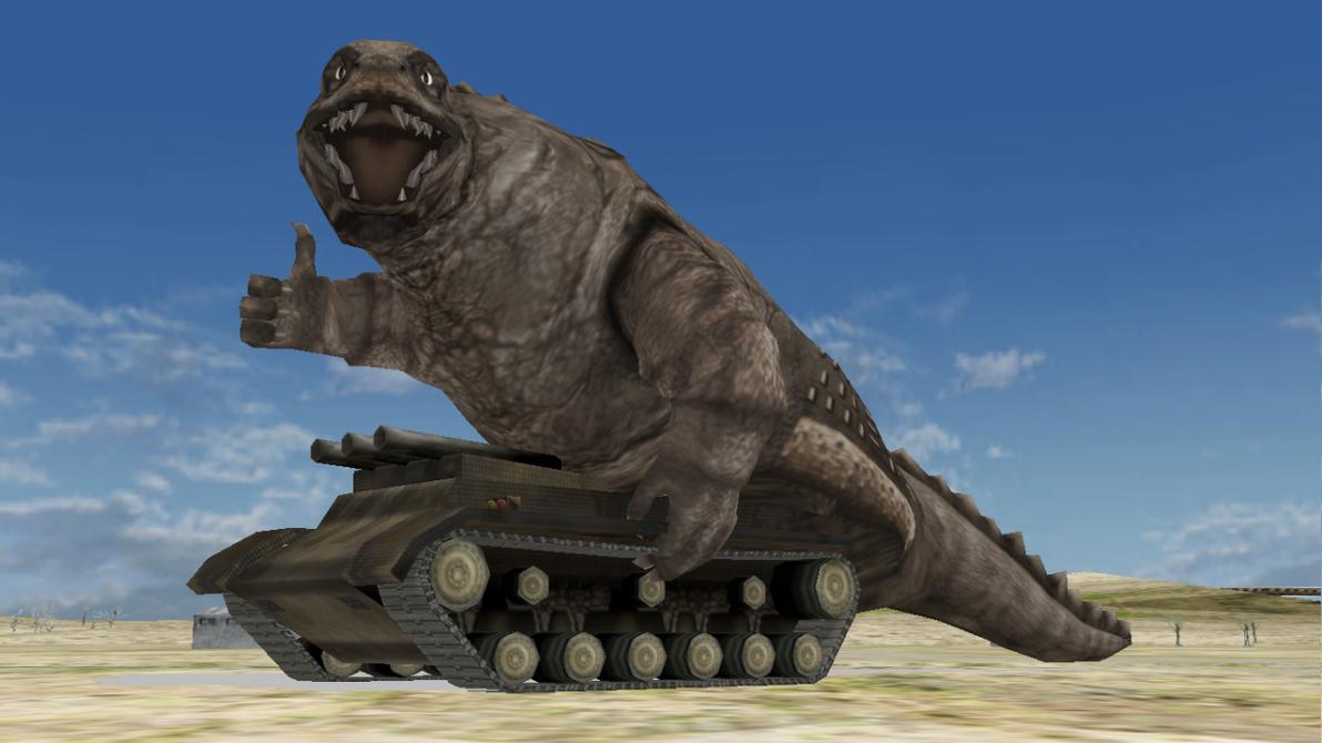 [MMD DL] Ultra Kaiju - Dinosaur Tank by BigJohnnyCool