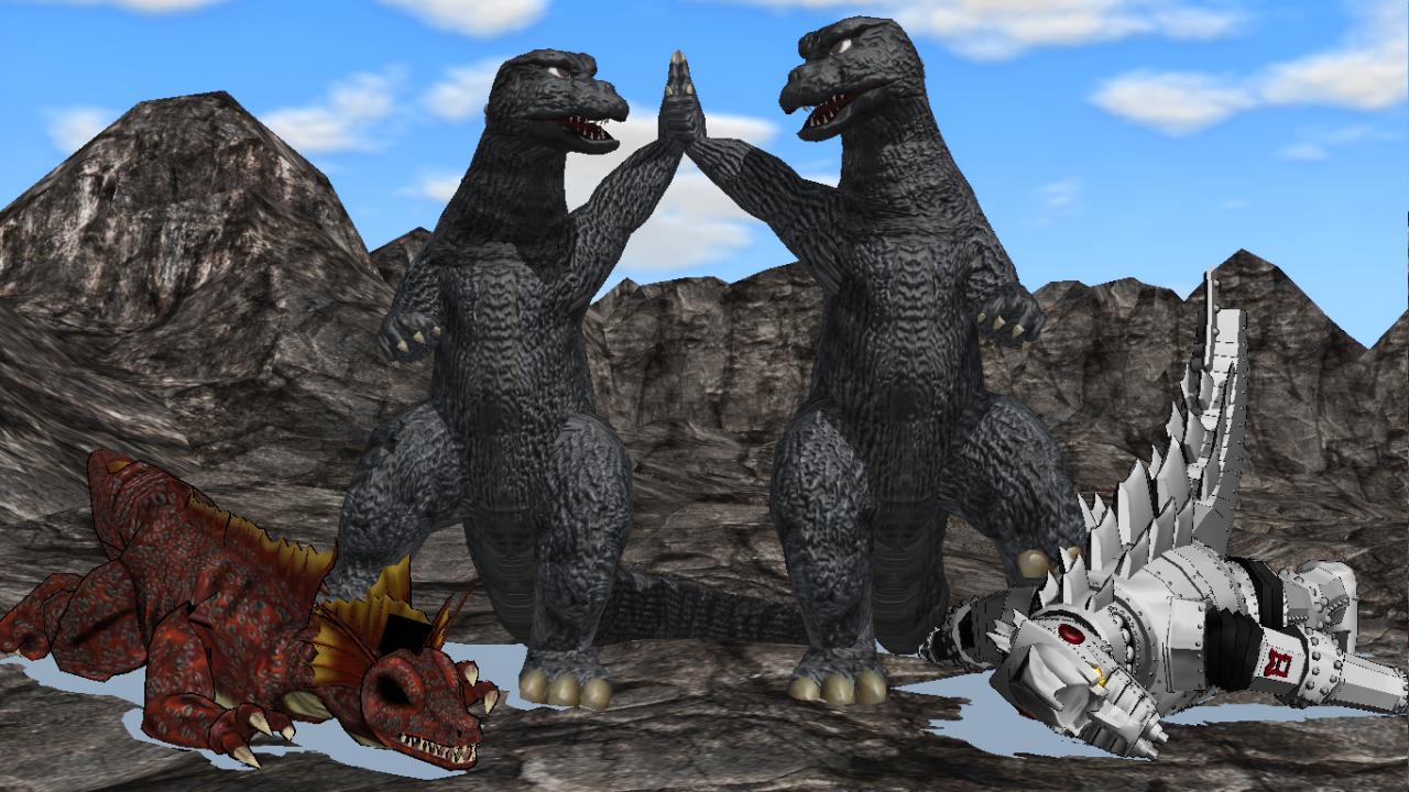 [MMD DL] Meka(Gyakushu)Goji / Godzilla 1974-75 by BigJohnnyCool