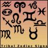 Tribal Zodiac Signs Brush Set by unpickedbooger