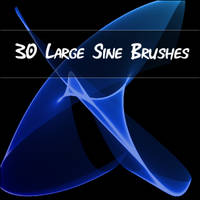 Large Sine Brushes for PSP by littiot