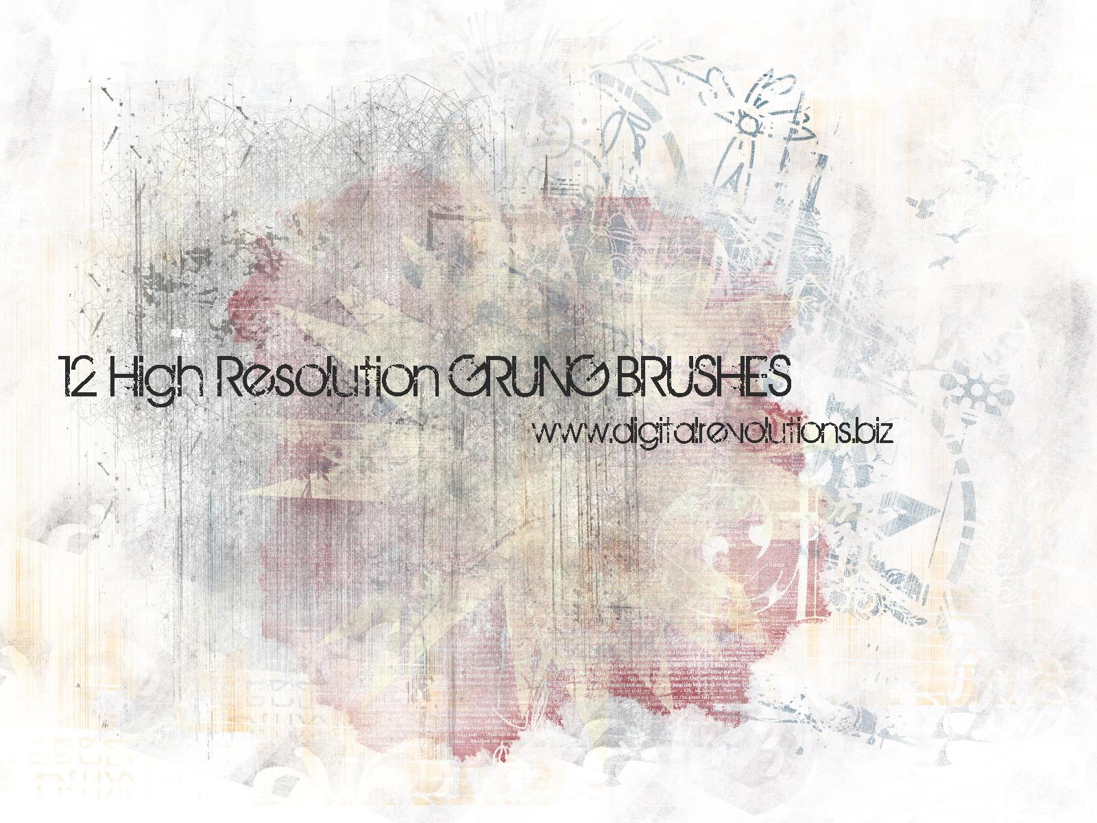 Free Grunge Photoshop Brushes by digitalrevolutions