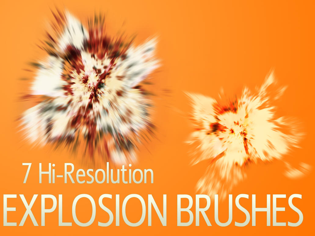 Hi-Res Explosion Brushes by digitalrevolutions