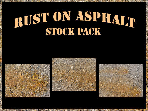 Rust on Asphalt Stock Pack by RosalineStock