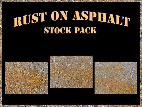 Rust on Asphalt Stock Pack by RosalineStock