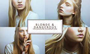 PSD | Blonde And Dangerous by TheEdgeOfDemi