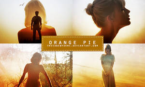 Orange Pie | PSD Colouring by TheEdgeOfDemi