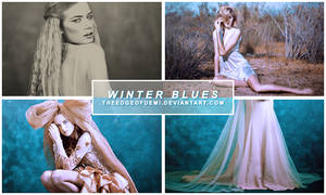 [PSD] Coloring | Winter Blues by TheEdgeOfDemi
