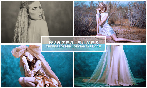 [PSD] Coloring | Winter Blues