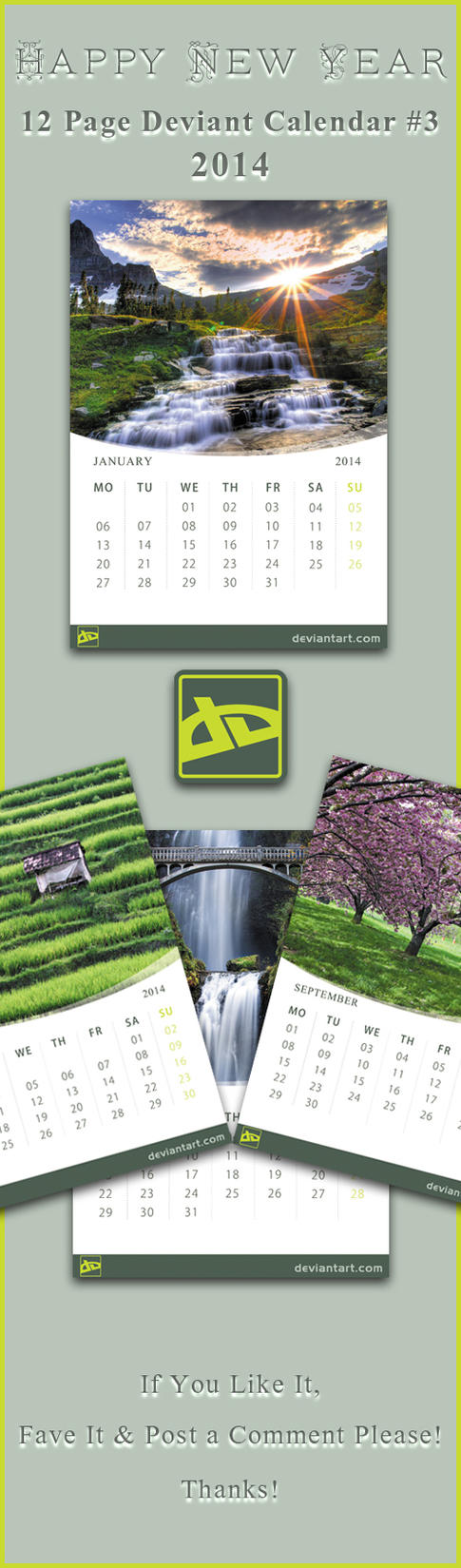 12 Page DA Calender-2014 #3 by SaimGraphics