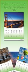 FreeStock Calendar 2014 by SaimGraphics