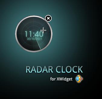 Radar Clock XWidget by addyf812
