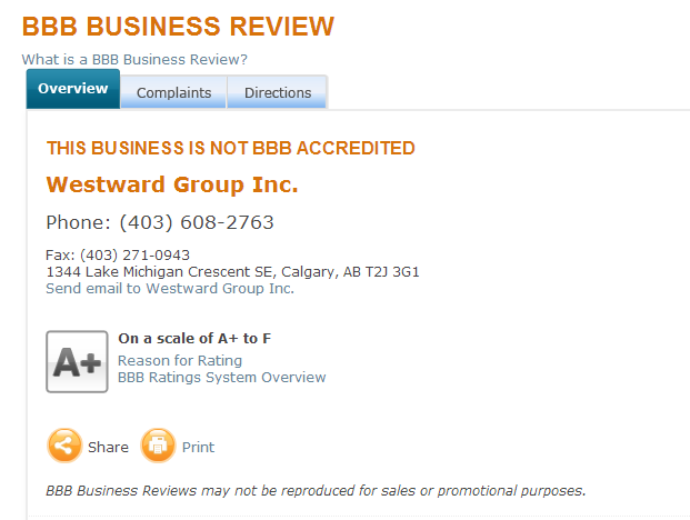 Westward Group Inc Business Review bbb Fraud by melodeebedford