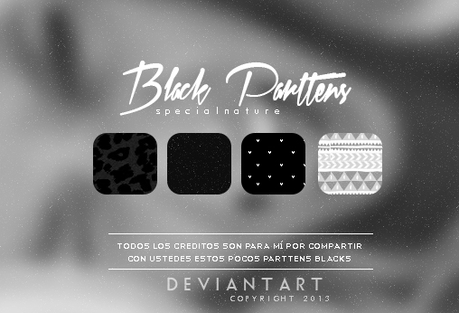 Black Parttens by ocehansaqualise