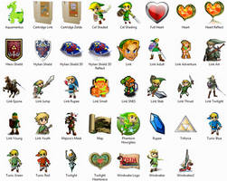 Legend Of Zelda Icon Package by sjg2008