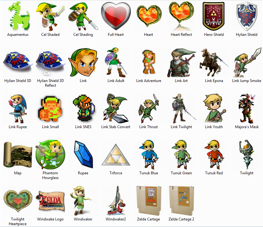 Legend of Zelda Dock Icons by sjg2008