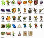 Legend of Zelda Dock Icons