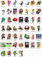 Super Mario NES Windows Icons by sjg2008