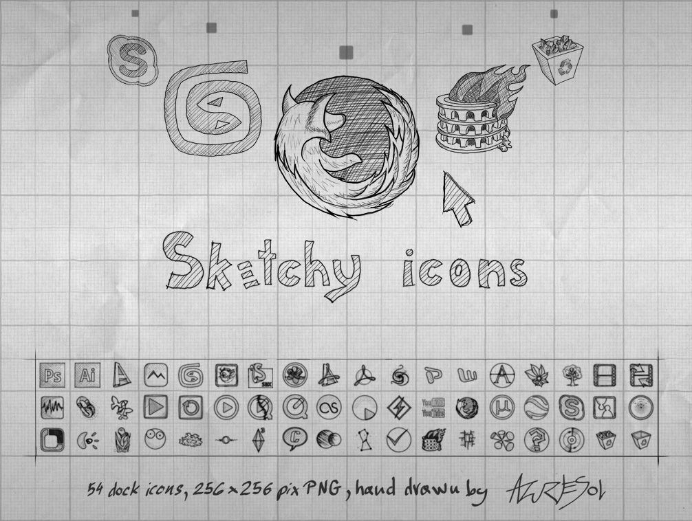 Sketchy Icons by AzureSol
